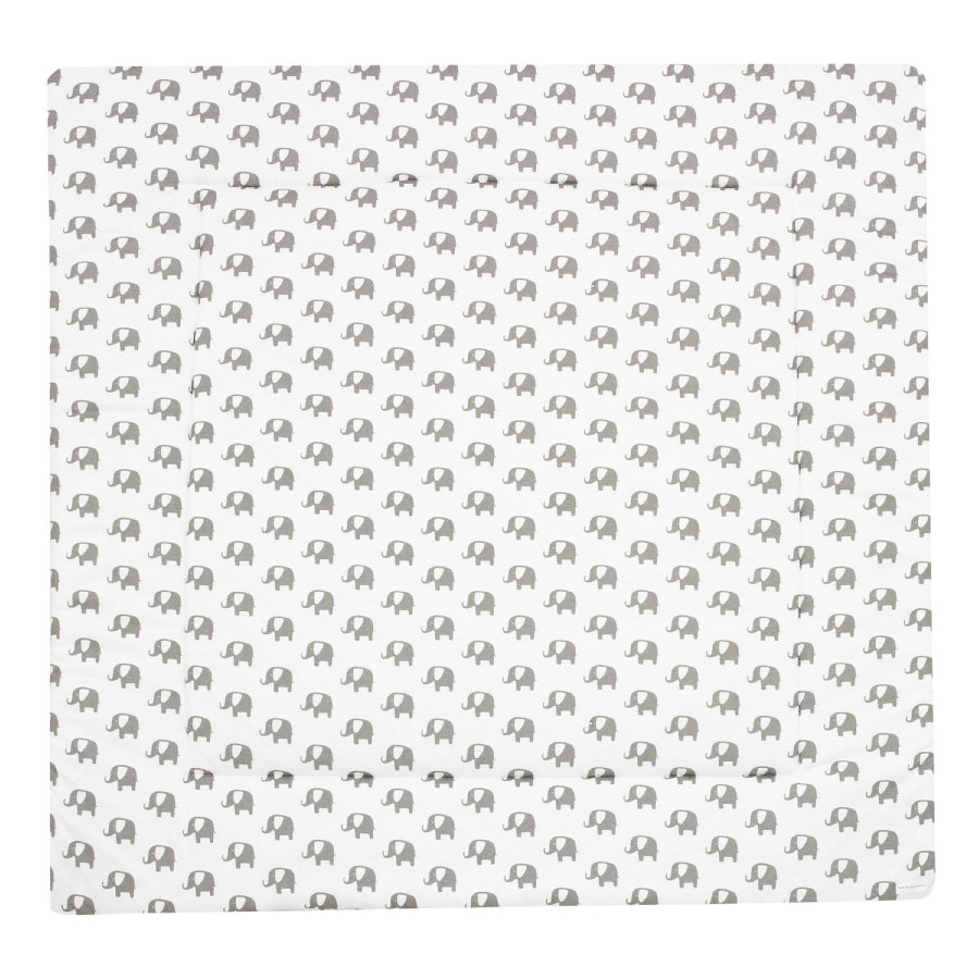 ALVI Mata do raczkowania Bellybutton Special Edition Elephants white 100 x 135 cm