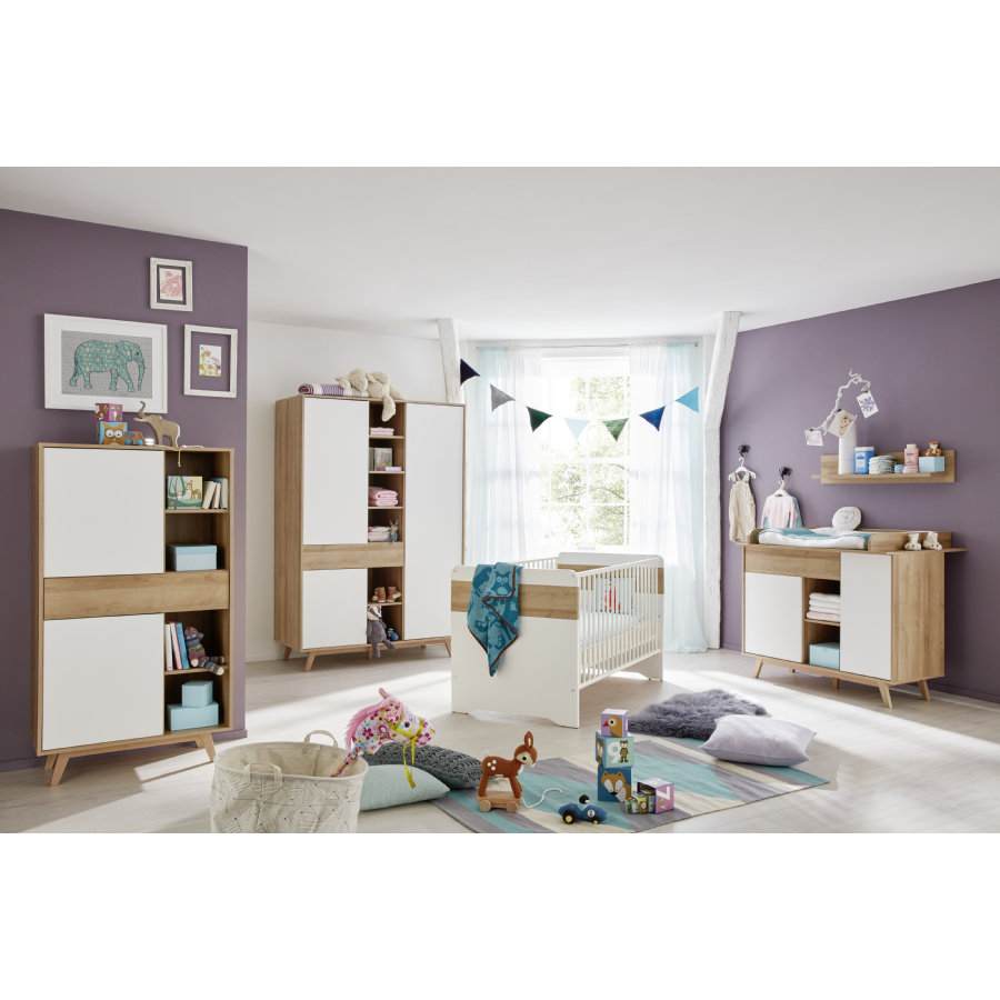 trendteam kinderzimmer boston 3 t rig inkl wandregal und standregal. Black Bedroom Furniture Sets. Home Design Ideas