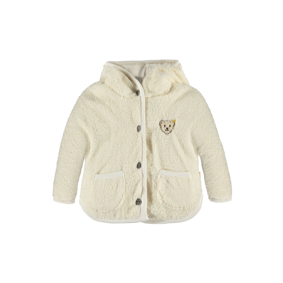 Steiff Girls Teddyplüsch Jacke cloud dancer