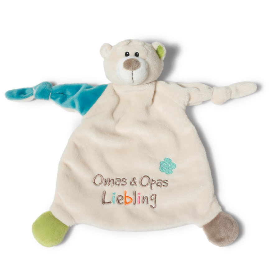 NICI My First NICI Cuddle Towel Bear Grandma & Grandpa's Darling 40040