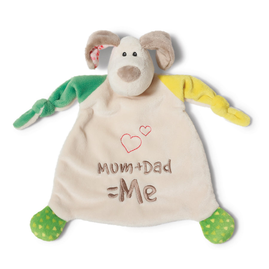 NICI My First NICI Sutteklud Hund Mum + Dad 25 x 25 cm