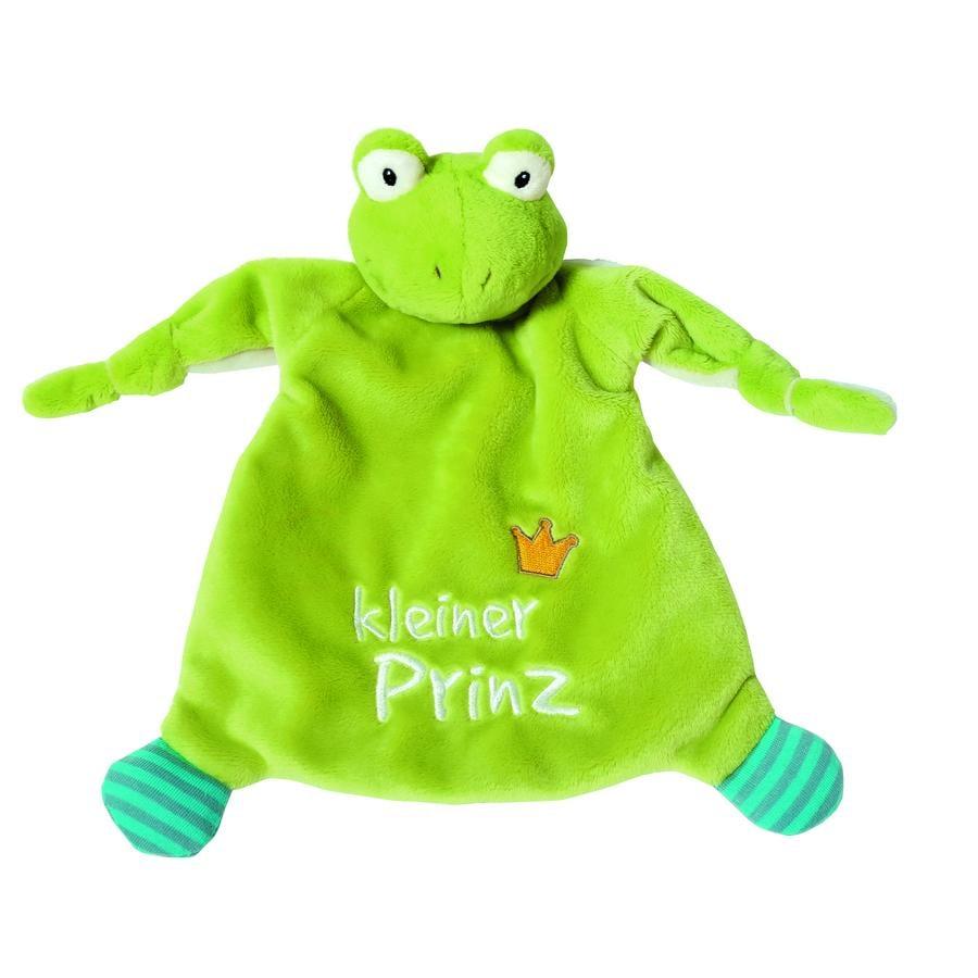 NICI My First NICI Knuffeldoek Kikker kleiner Prinz 25 x 25 cm