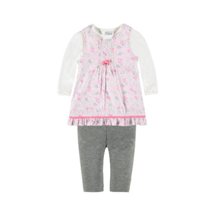 KANZ Girls Set 3-teilig Kleid, Shirt und Leggings allover