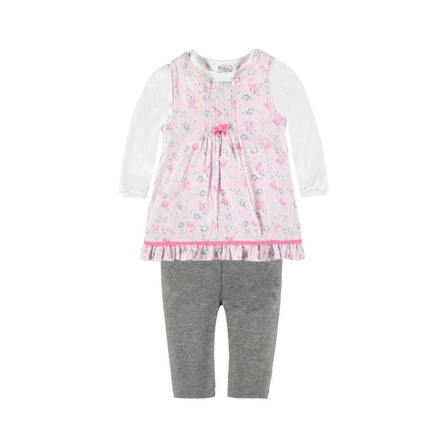 KANZ Girl s Ensemble robe, chemise et leggings 3 pièces allover