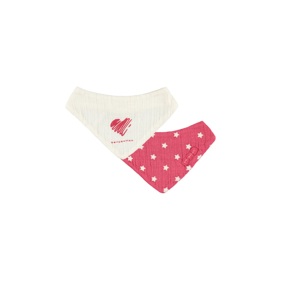 bellybutton Girls Baby Dreieckstücher white/raspberry Doppelpack