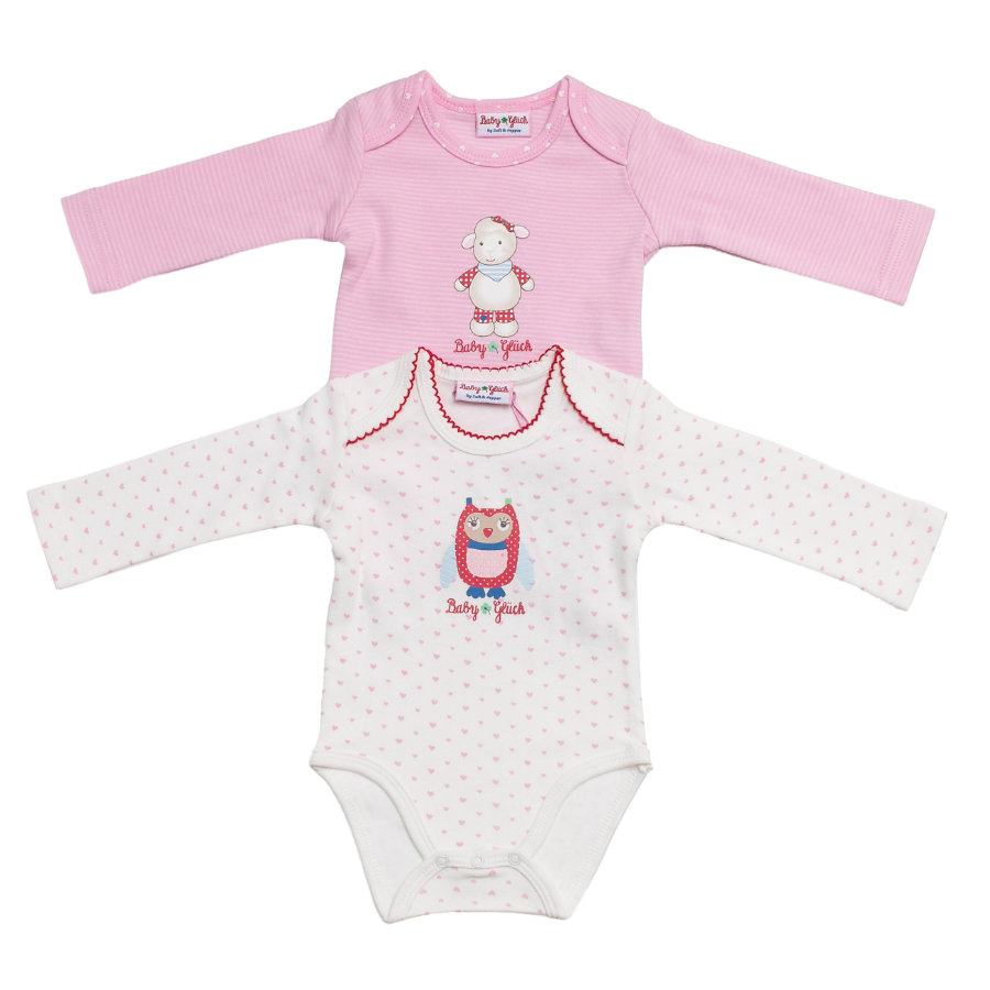 SALT AND PEPPER Baby Glück Girls Bodies rosé/white