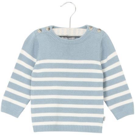 Wheat Pull tricoté Jonas bleu cendré