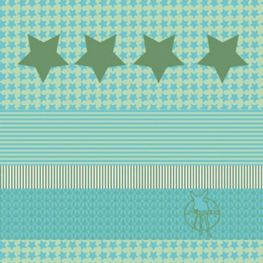 LÄSSIG Foulard multiusage Enfants Twister Starlight oliv