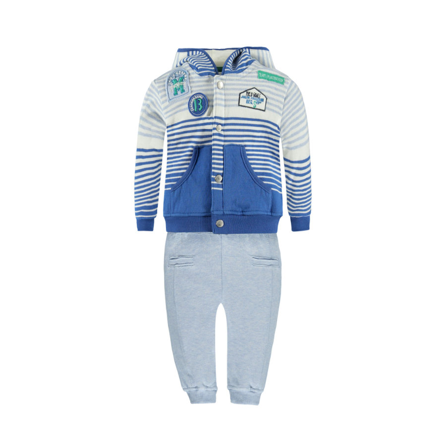 KANZ Boys Set 3-teilig Jogginghose,T-Shirt und Sweatshirt stripe