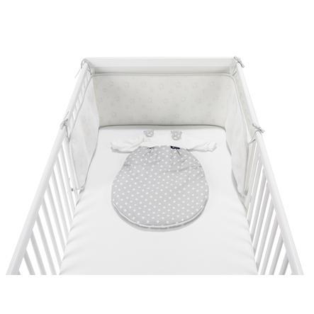 Alvi® Tour de lit enfant Air, Étoiles, argenté 180 cm