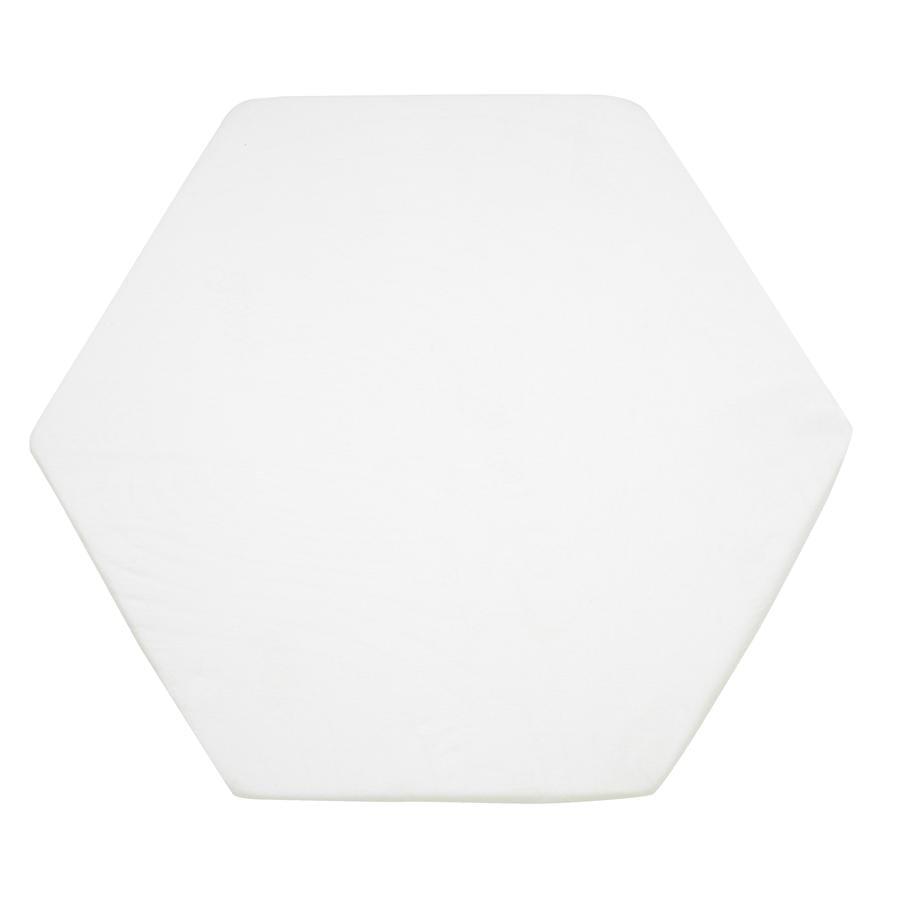 ALVI Prześcieradło z trykotu do 6-8 kątnego materacyka - 115 cm, kolor biały