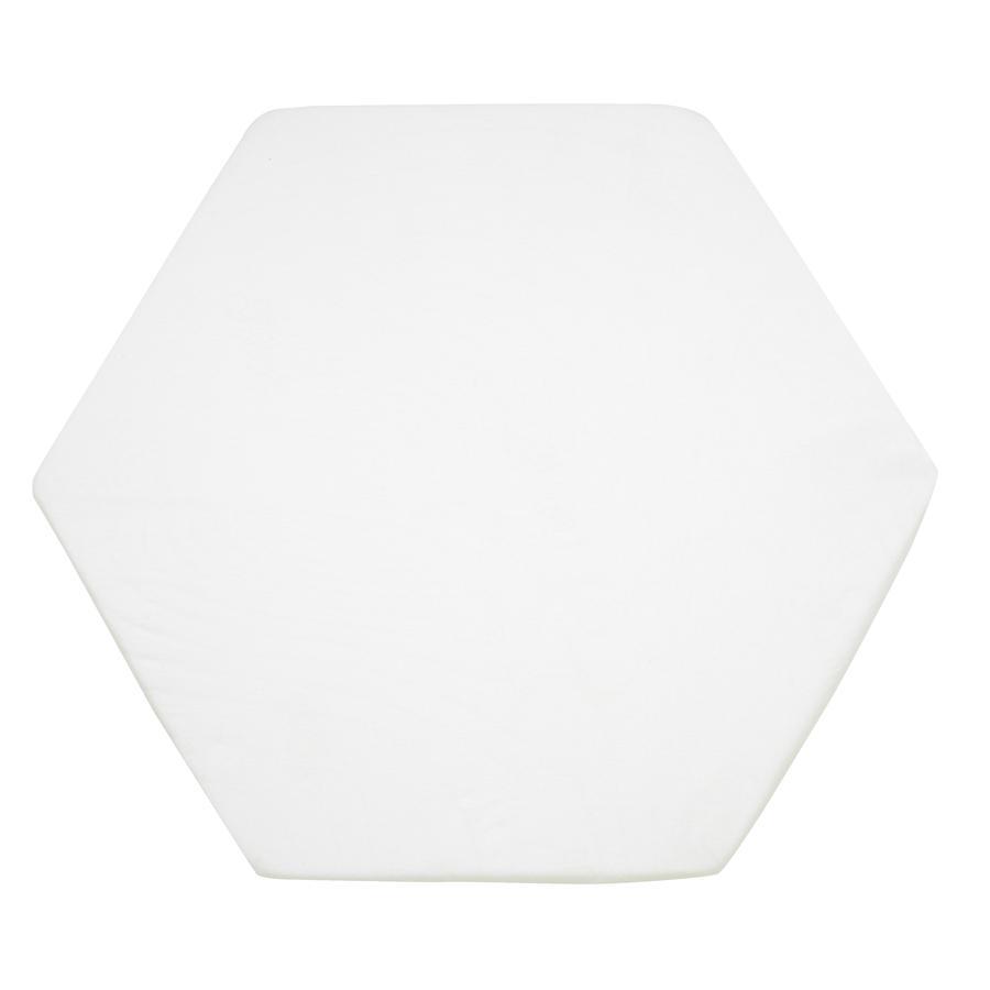 Alvi Spannlaken 115 cm Trikot weiß für 6 - 8-eckige Laufgittermatratzen