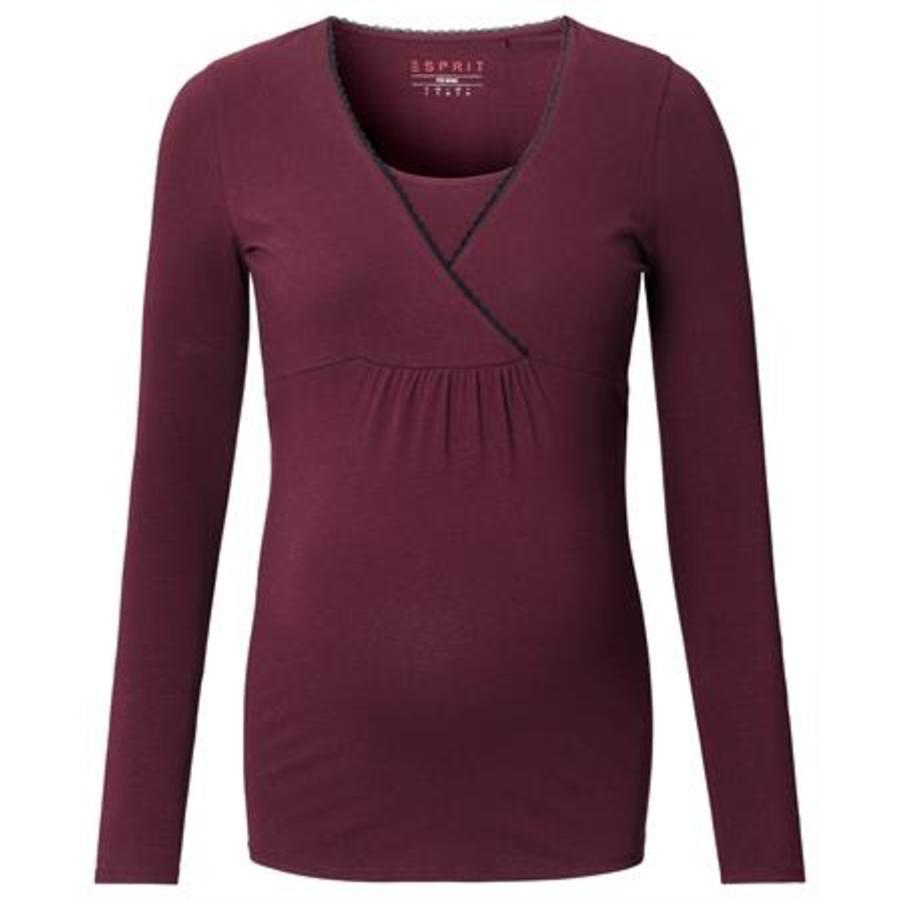 ESPRIT circostanza T-Shirt rosso scuro rosso scuro