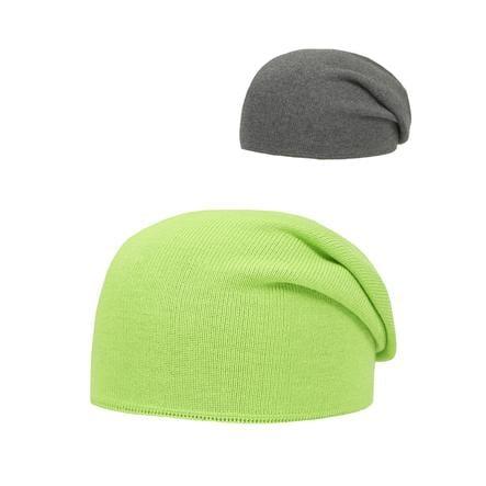 DÖLL Bonnet tricoté, vert/gris
