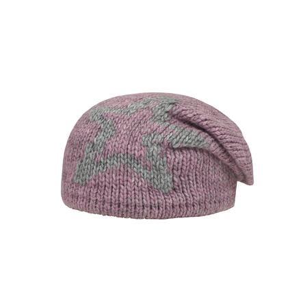 Döll Girls pletená čepice hvězda růžová