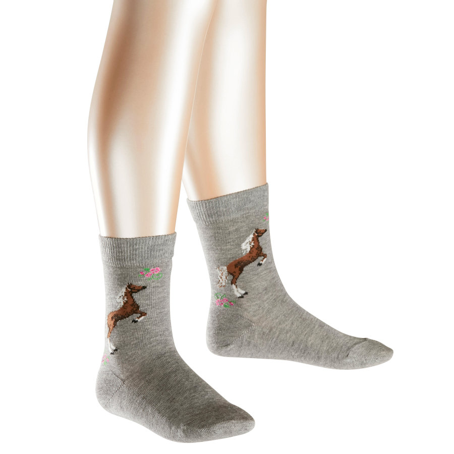 FALKE Girls Socken Horse light grey