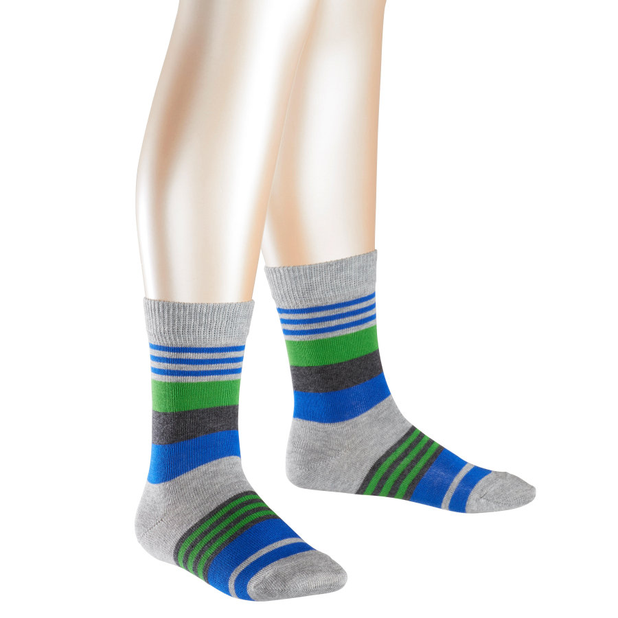 FALKE Socken Irregular Stripe light grey