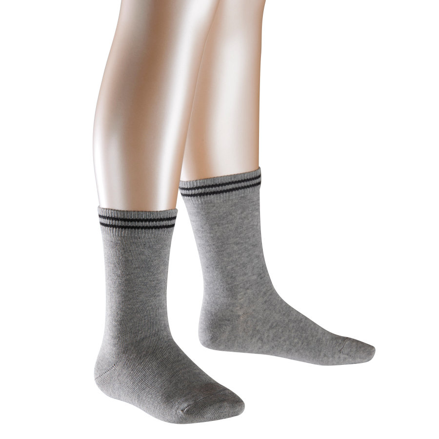 FALKE Socken 2Friends Doppelpack light grey