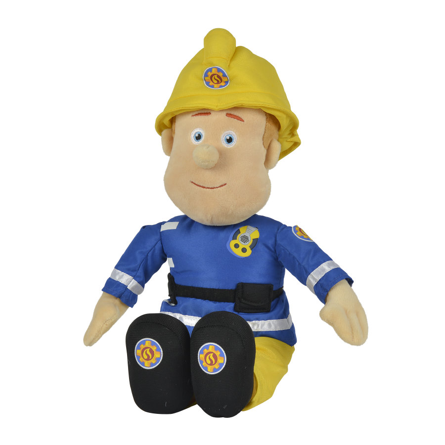 SIMBA Peluche Sam le pompier, 45 cm
