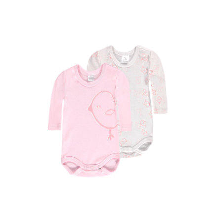 KANZ Baby Bodies 1/1 Arm 2er Pack weiss/rosé