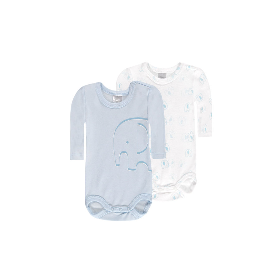 KANZ Baby Lichamen 1/1 arm wit/blauw