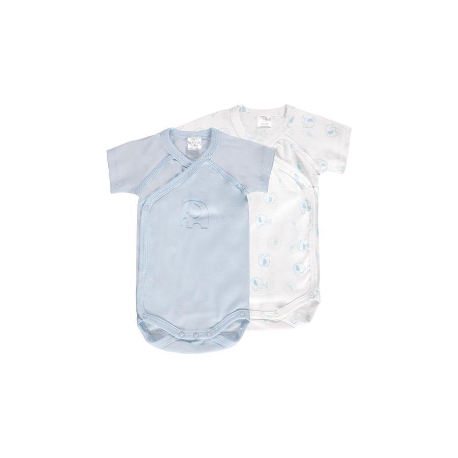 KANZ Baby Lichamen 1/4-armige verpakking van 2 wit