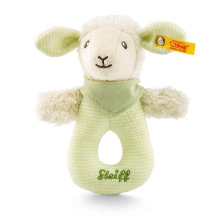 Steiff Baby Lenny Lamm gripring med rasle, 15 cm