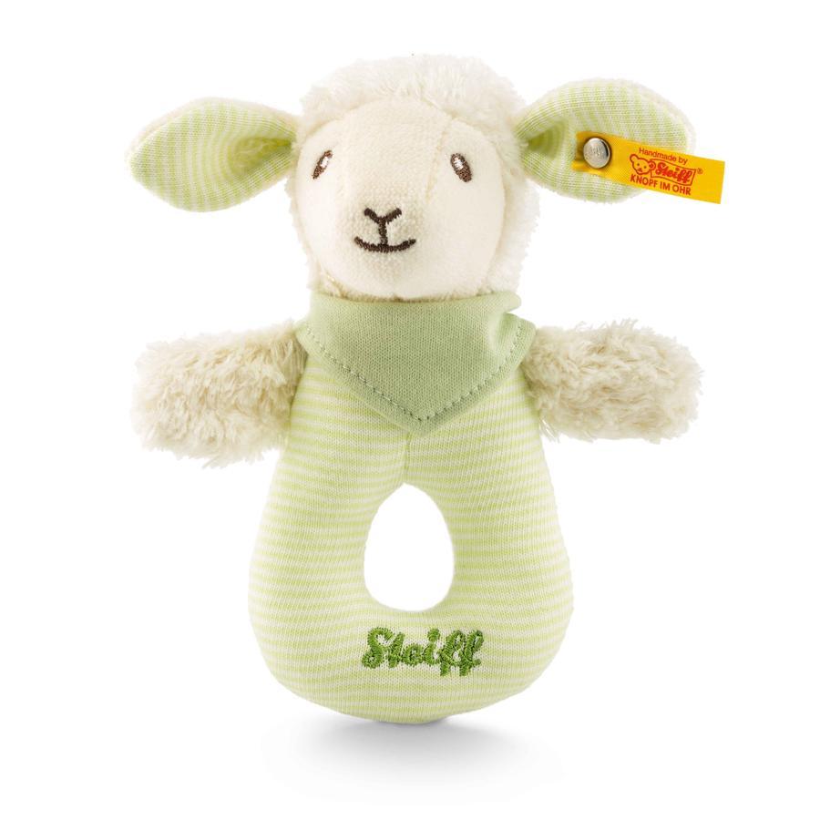 Steiff Baby Lenny Lamm Greifring mit Rassel, 15 cm