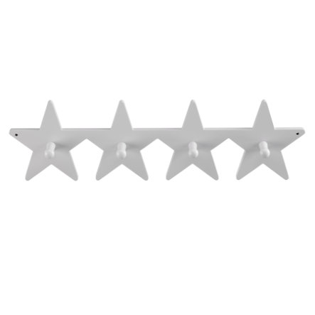 KIDS CONCEPT Patère Étoile, 4 crochets, gris