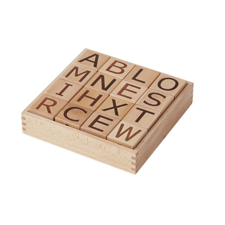Kids Concept® Cubes enfant lettres Neo bois, naturel