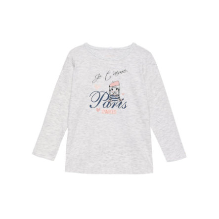 name it Girls Longsleeve Vix light grey melange