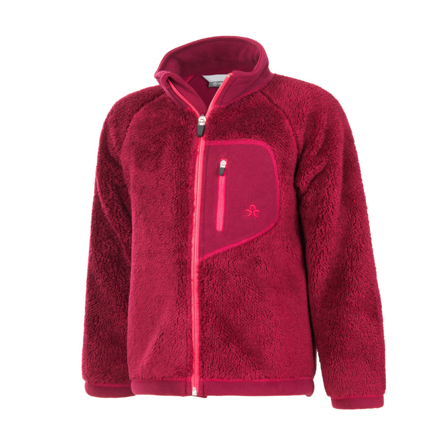 COLOR KIDS Fleecejacke Burma Beet Red