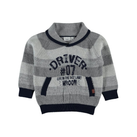 name it Boys Pullover Lyder grey melange