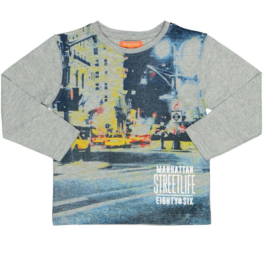 STACCATO Boys Overhemd grijs gemêleerd