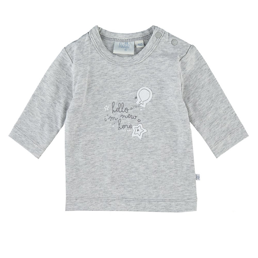 Feetje Girls Longsleeve hello I´m new here grau