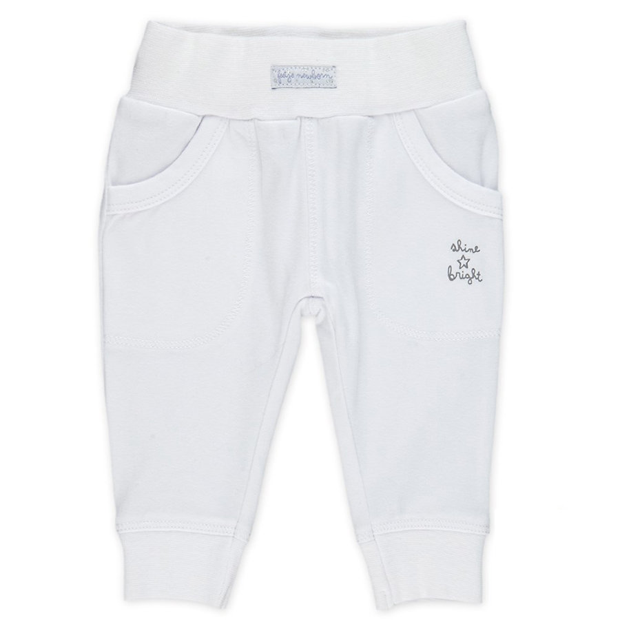 Feetje Girl s Le pantalon de survêtement brille en blanc vif