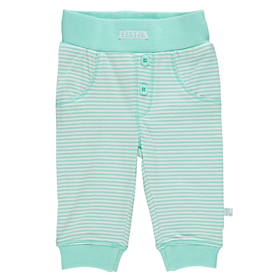 FEETJE Broek Happy Ringel mint,wit