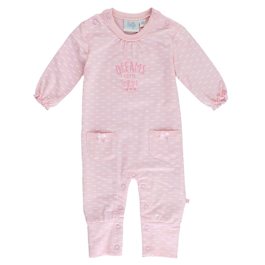 Feetje Girls Strampler dreams come ture rosa