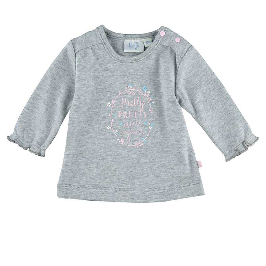 Feetje Girls Longsleeve pretty little you grijs