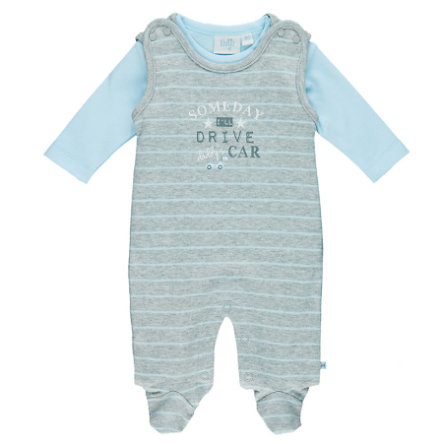 Feetje Boys Romper-set Mr. Cute grijs melange