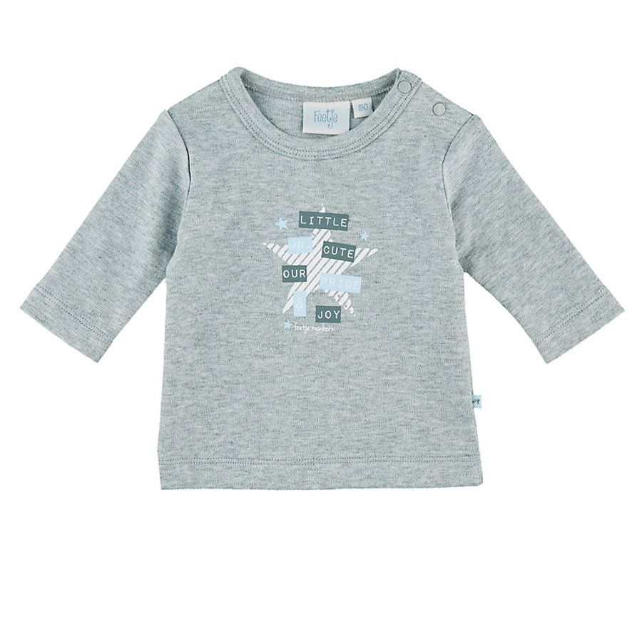Feetje Boys Longsleeve little cute grijs