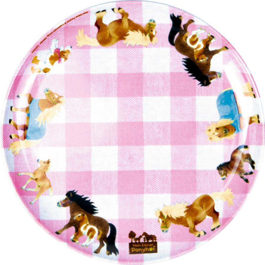 COPPENRATH Melamin-Teller Mein kleiner Ponyhof