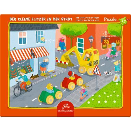 COPPENRATH Puzzle v rámu - Malé závodní auto ve městě, 15 dílů