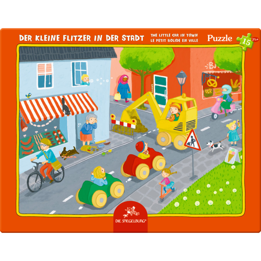 COPPENRATH Frame puzzle - Den lille speedsteren i byen, 15 stykker