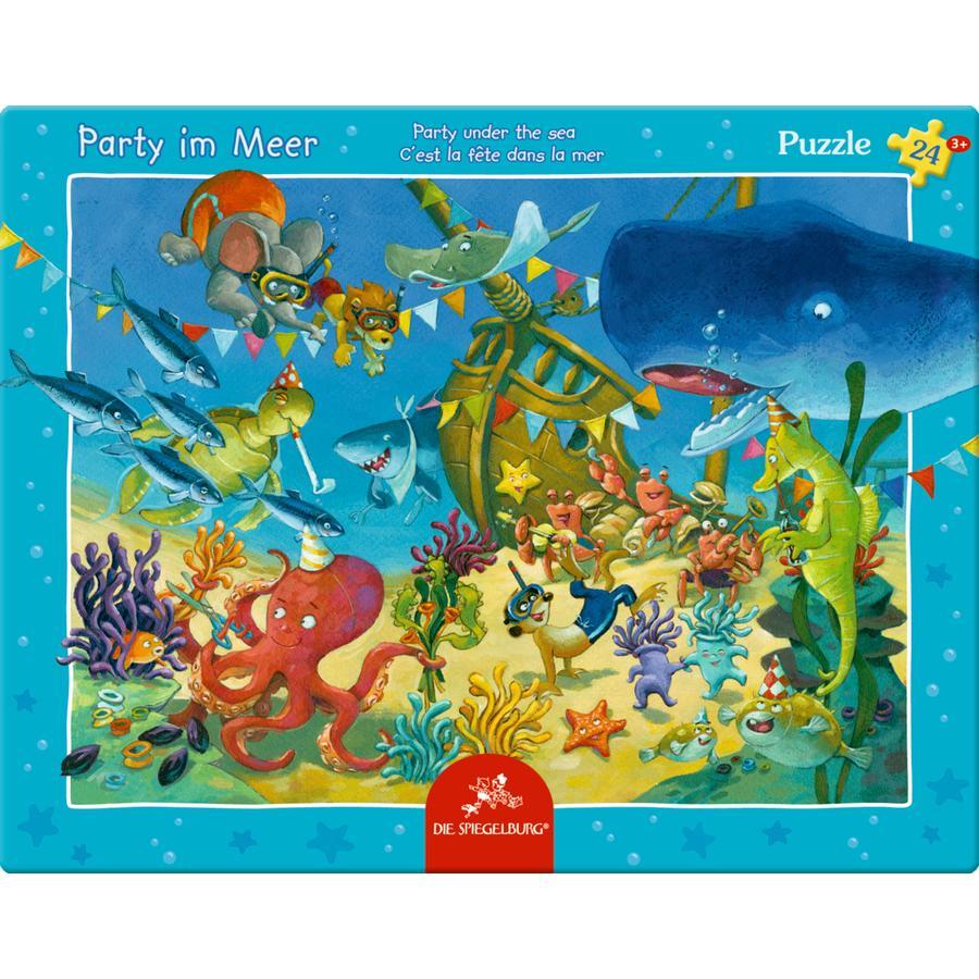 SPIEGELBURG COPPENRATH Rahmenpuzzle - Party im Meer, 24 Teile