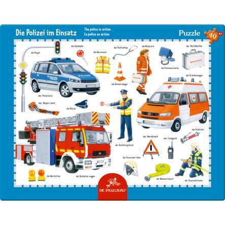COPPENRATH Rahmenpuzzle - Polizei im Einsatz, 40 Teile