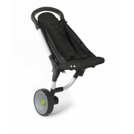 BuggyPod iO sidovagn för barnvagnar (breda chassin/ramar) svart-jordfärgad