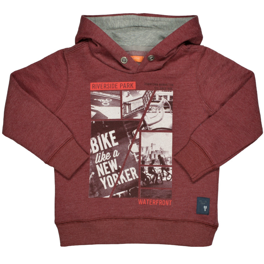 STACCATO Boys Kapuzensweatshirt deep red melange