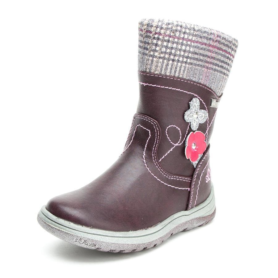 s.Oliver scarpe Girl s stivali stivali bordeaux-rosso