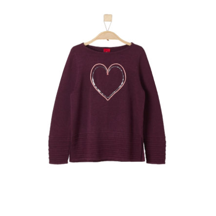 s.Oliver Girls Pullover dark pink